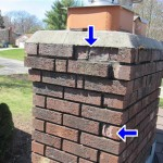 Spalling Bricks are sometimes found in a home inspection and are caused by moisture leaking in the chimney from a broken chimney cap.