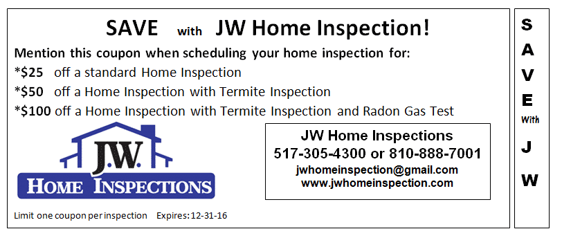 Exclusive Coupon For Lansing Home Inspections
