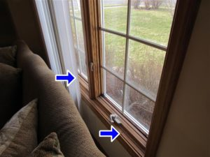 Issue found on the front windows during a West Michigan Home Inspection